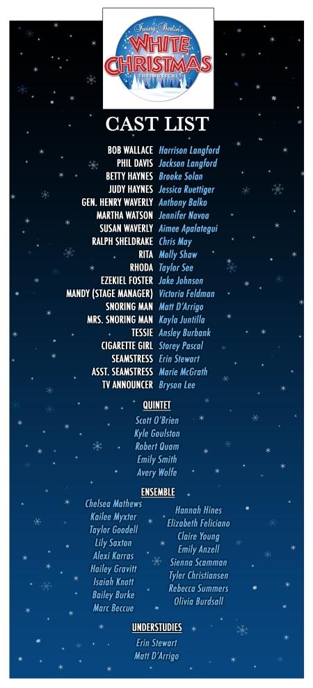 White Christmas Cast List